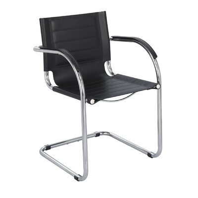 Flaunt Leather Guest Chair Seat Color: Black Leather
