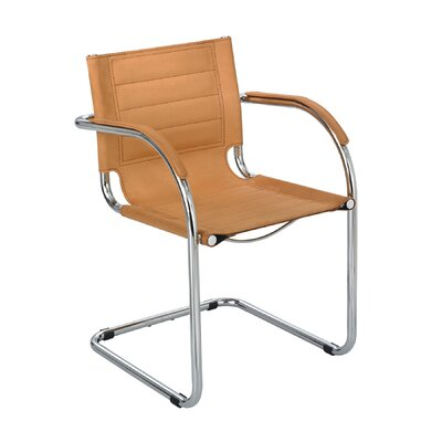 Flaunt Leather Guest Chair Seat Color: Camel Microfiber