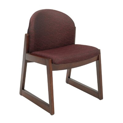 Urbane Guest Side Chair Fabric: Black, Arms: Without Arms, Finish: Mahogany