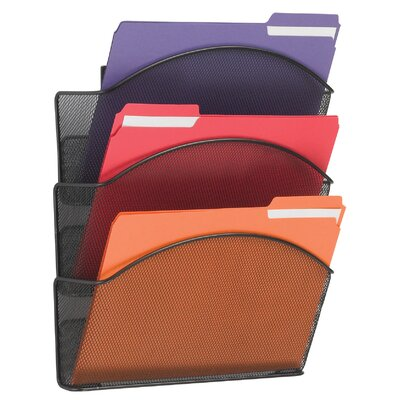 Onyx Steel Triple Wall Pocket, Letter