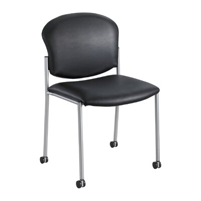 Diaz Guest Chair Seat Color: Black Vinyl