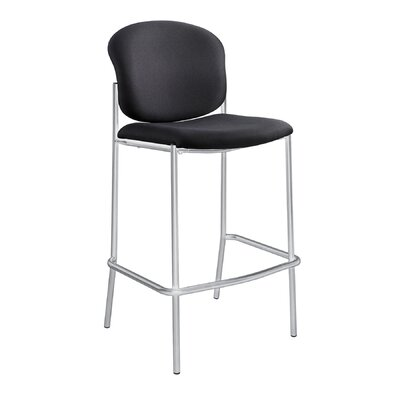 Diaz 30 Bar Stool Upholstery: Black