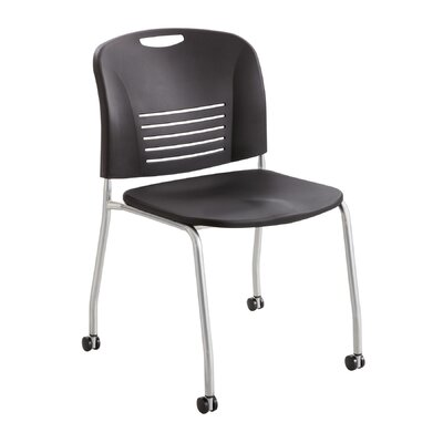 Vy Stack Chair (Set of 2) Seat Color: Black
