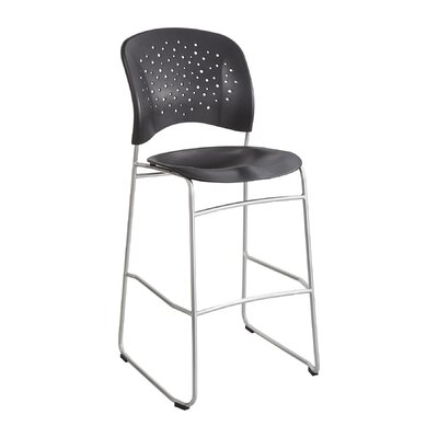 Reve Series Bistro Guest Chair Seat Color: Black