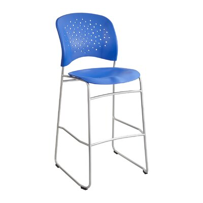 Reve Series Bistro Guest Chair Seat Color: Lapis