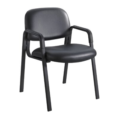 Cava Urth Guest Chair Color: Black Vinyl, Frame Type: Straight Leg