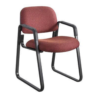Cava Urth Guest Chair Color: Burgundy, Frame Type: Sled Base