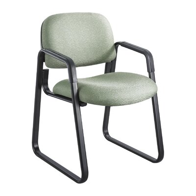 Cava Urth Guest Chair Color: Green, Frame Type: Sled Base
