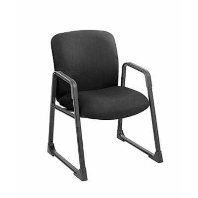 Uber Series Big and Tall Sled Base Guest Chair Seat Color: Black
