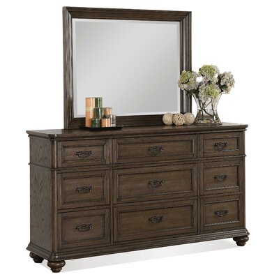 Beckles 9 Drawer Dresser with Mirror