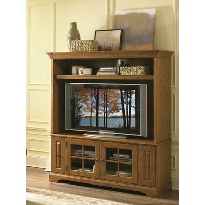 Cheap Riverside Furniture Visions 64″ Entertainment Center in Medium Distressed Oak (RVF1246)