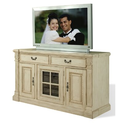 Cheap Riverside Furniture Weybridge 64″ TV Stand in Madera Cherry and Wellington White (RVF3543)
