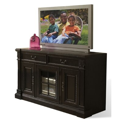 Cheap Riverside Furniture Weybridge 64″ TV Stand in Madera Cherry and Addelstone Black (RVF3542)