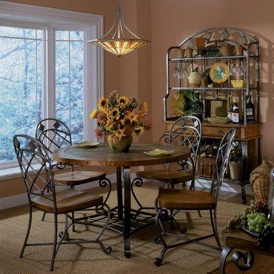 Riverside furniture harmony 5 piece round dining room set for Riverside dining room sets