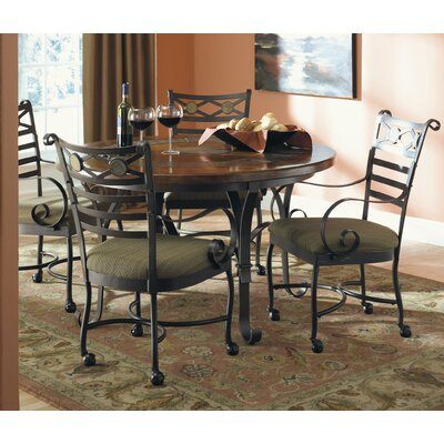 cheap riverside furniture stone forge 5 piece round dining table set