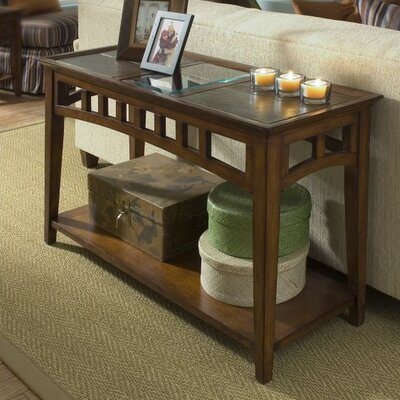 Cheap Riverside Furniture Andorra Sofa Table Finish: Eden Burnished Cherry (RVF3838_3551762)