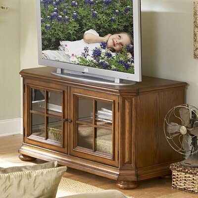 Cheap Riverside Furniture Seville Square 51″ TV Console in Warm Oak (RVF3925)