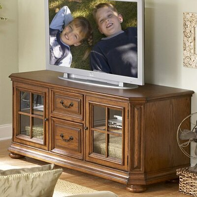 Cheap Riverside Furniture Seville Square Large 66″ TV Console in Warm Oak (RVF3927)