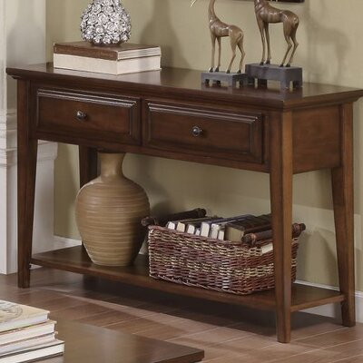 Cheap Riverside Furniture Hilborne Sofa Table in Burnished Cherry (RVF4211)