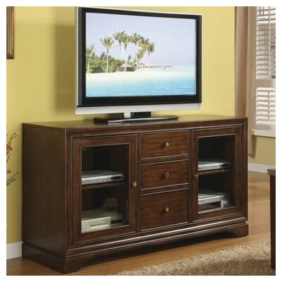 Cheap Riverside Furniture Bella Vista 60″ TV Stand in Warm Transitional Cherry (RVF4046)