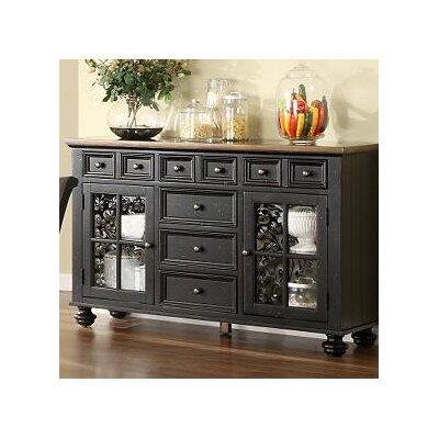 Cheap Riverside Furniture Delcastle Server in Antique Irish Pine and Aged Black (RVF4176)
