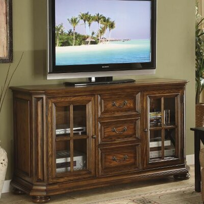 Cheap Riverside Furniture Seville Square High Waist 62″ TV Stand in Warm Oak (RVF4247)