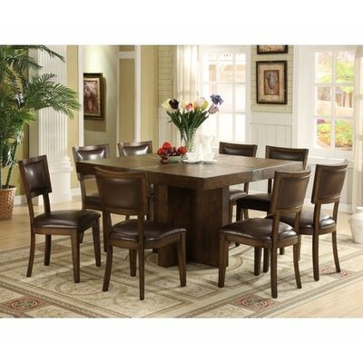 Furniture dining room furniture square table 9 piece for 9 piece dining room sets square
