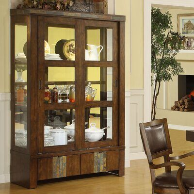 Riverside Furniture Belize China Cabinet in Old World Distressed Pine (RVF4453)