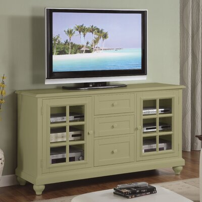 Cheap Riverside Furniture Splash of Color 60″ TV Stand in Distressed Ivy Green (RVF4488)