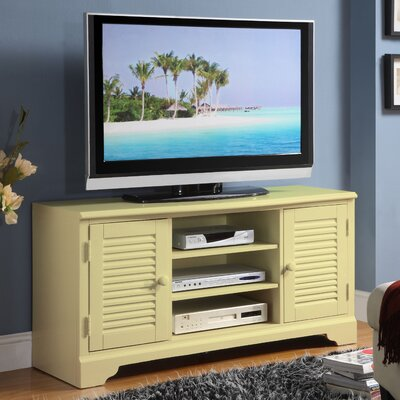 Cheap Riverside Furniture Splash of Color 51″ TV Stand in Distressed Buttercup Yellow (RVF4543)
