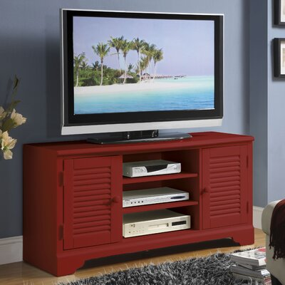 Cheap Riverside Furniture Splash of Color 51″ TV Stand in Distressed Chili Pepper Red (RVF4544)