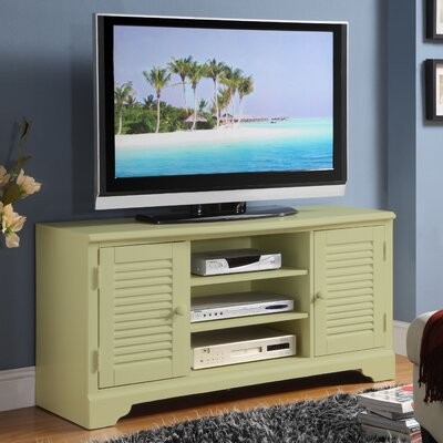 Riverside Furniture Splash of Color 51″ TV Stand in Distressed Ivy Green (RVF4545)