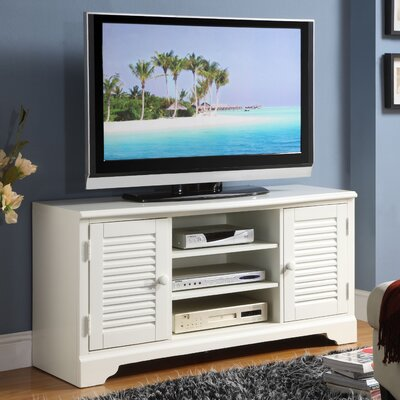 Cheap Riverside Furniture Splash of Color 51″ TV Stand in Distressed Shores White (RVF4546)