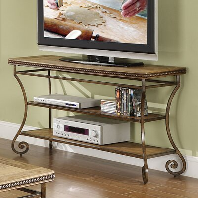 Cheap Riverside Furniture Penn Manor Sofa Table in Distressed Weathered Oak (RVF4708)