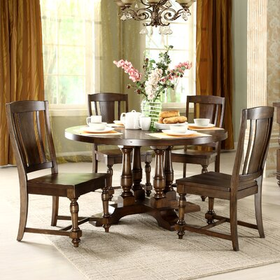 buy low price riverside furniture coventry two tone round dining table