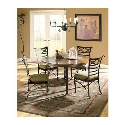 727 riverside furniture stone forge round dining table in tuscan 877