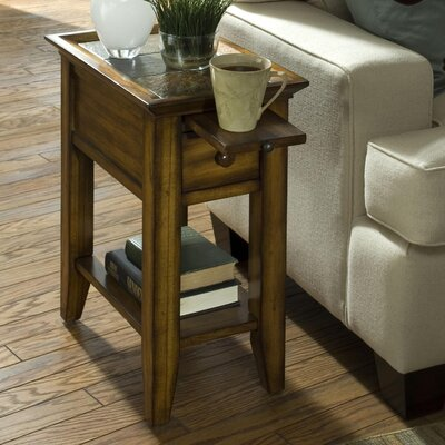 Veloz End Table Color: Belize Burnished Oak