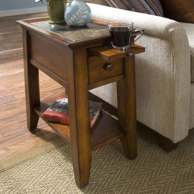 Veloz End Table Color: Eden Burnished Cherry