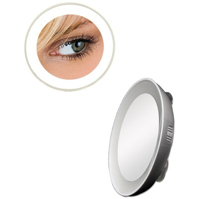 Zadro Spot Mirror with LED Surround Light in Silver - Magnification: 10x at Sears.com