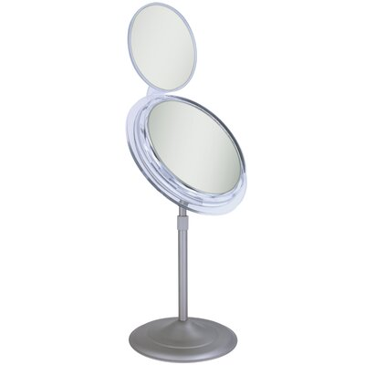 Surround Light Vanity Mirror with Folding Mini Mirror