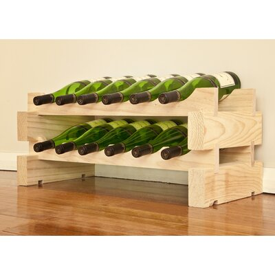 12 Bottle Floor Wine Rack Finish: Natural