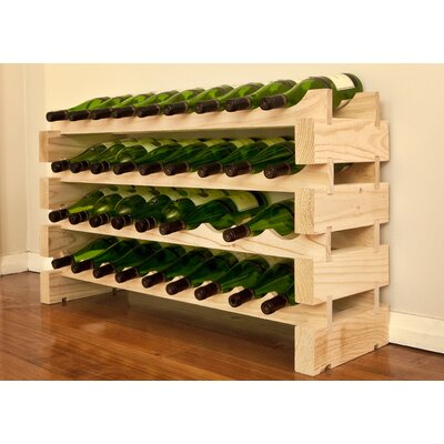 36 Bottle Floor Wine Rack Finish: Natural