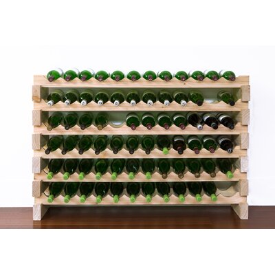 72 Bottle Floor Wine Rack Finish: Natural