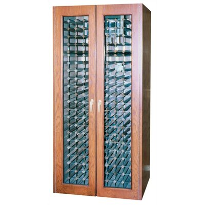 440 Two Door Oak Wine Cooler Cabinet With Thermal Glass Wood Finish: Golden Oak