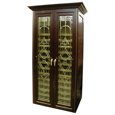 440 Two Door Bonaparte Oak Wine Cooler Cabinet Wood Finish: Cherry