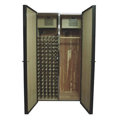 440 His/hers Oak Wine Cooler And Fur Storage Cabinet Wood Finish: Natural