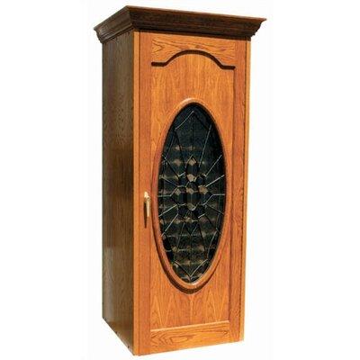 250 Napoleon Oak Wine Cooler Cabinet With Oval Beveled Glass Wood Finish: White Wash