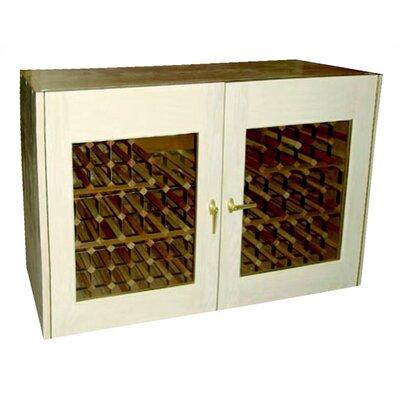 2 Door Oak Wine Cooler Credenza With Rectangular Glass Doors Wood Finish: Natural