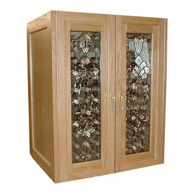 Bonaparte 2 Door Oak Wine Cooler Cabinet Wood Finish: Dark Cherry