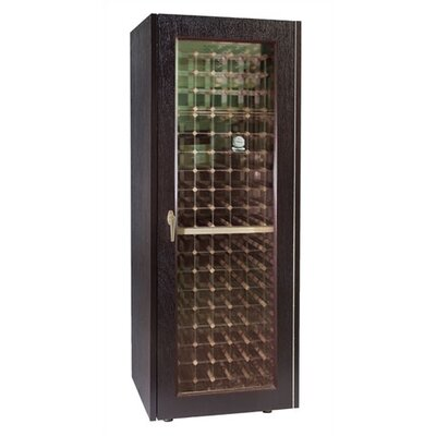 200 Economy Wine Cooler Cabinet With Glass Door Wood Finish: Unfinished